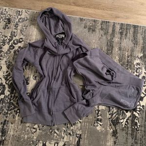 Victoria's Secret Sweats Set Heather Grey